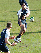 Picture by Andrew Tobin/Focus Images Ltd +44 7710 761829.08/02/2013.Manu Tuilagi England of during Training at Pennyhill Park, Bagshot.