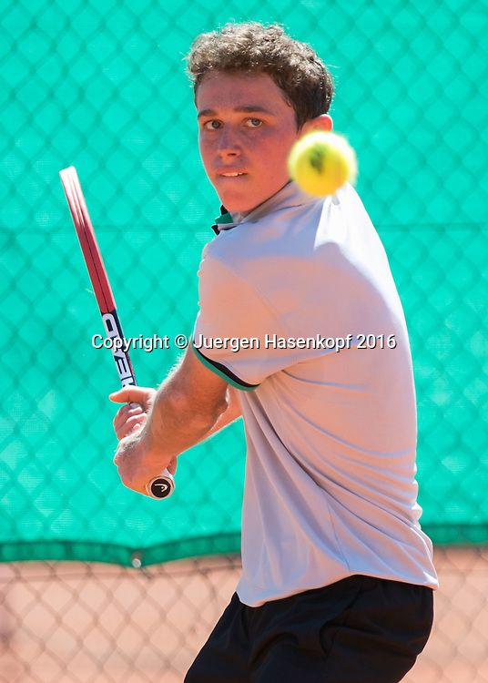 Tennis Europe-Bavarian Junior Open, Jeremy Schifris (GER)  BS16<br /> <br /> Tennis - Bavarian Junior Open 2016 - Tennis Europe Junior Tour -  SC Eching - Eching - Bayern - Germany  - 8 August 2016. <br /> &copy; Juergen Hasenkopf