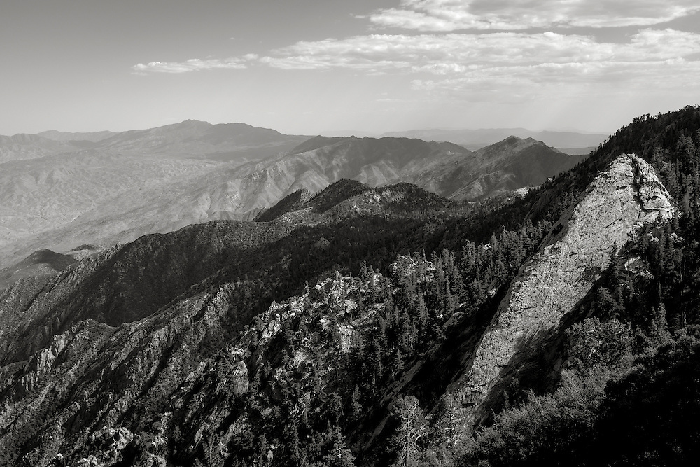 The San Jacinto Mountains are a mountain range, in Riverside County, east of Los Angeles southern California in the United States. The mountains are named for Saint Hyacinth (San Jacinto in Spanish).
