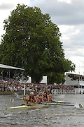 Henley, Great Britain.Stewards'  Challenge Cup, Semi final, Berks,Leander Club and Molesy BC vs Australian inst. of Sport, at the  2007 Henley Royal Regatta,  Henley Reach, England 07/07/2007  [Mandatory credit Peter Spurrier/ Intersport Images].Molesey LC bow Steve WILLIAMS, Peter REED, Tom JAMES and Andy TWIGGS HODGE Rowing Courses, Henley Reach, Henley, ENGLAND . HRR. ...........Rowing Courses, Henley Reach, Henley, ENGLAND. HRR
