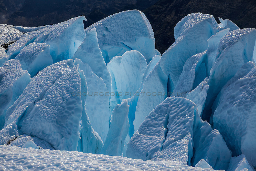 Up close with the deep blue beauty of a glacier.