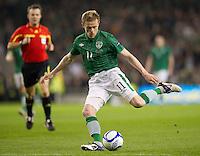 Fussball International, Nationalmannschaft   EURO 2012 Play Off, Qualifikation, Irland - Estland 15.11.2011 Damien DUFF (IRL)