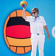 GER - FRA <br /> Germany (white caps) vs France (blue caps) <br /> Final 7th-8th Place<br /> Barcelona 27/07/18 Piscines Bernat Picornell  <br /> 33rd LEN European Water Polo Championships - Barcelona 2018 <br /> Photo Giorgio Scala/Deepbluemedia/Insidefoto