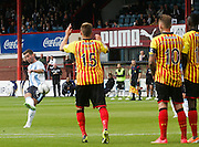 Peter MacDonald curls a free kick just wide - Dundee v Partick Thistle, SPFL Premiership at Dens Park<br /> <br />  - &copy; David Young - www.davidyoungphoto.co.uk - email: davidyoungphoto@gmail.com