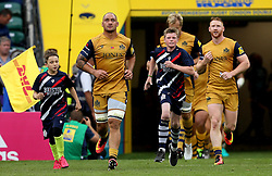 Bristol Rugby players run out at Twickenham - Mandatory by-line: Robbie Stephenson/JMP - 03/09/2016 - RUGBY - Twickenham - London, England - Harlequins v Bristol Rugby - Aviva Premiership London Double Header