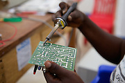 Sofia Mnandi is a solar engineer in Chekeleni village, near Mtwara, Tanzania...Sofia trained as part of the innovative Barefoot Solar project which enables women from the poorest communities in rural Tanzania to run successful businesses by installing, repairing and maintaining solar equipment for their communities and beyond...VSO volunteer Lesley Reader project manages the scheme by liaising with the Tanzanian government, Barefoot college and the Indian government.