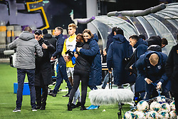 Players and other teams members celebrating win after  football match between NK Maribor and NK Bravo in 25th Round of Prva liga Telekom Slovenije 2019/20, on March 7, 2020 in Ljudski vrt, Maribor, Slovenia. Photo by Blaž Weindorfer / Sportida
