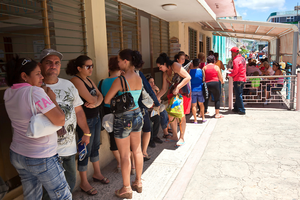 Lineup for ice cream in Holguin, Cuba.