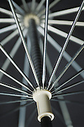 metal spokes inside umbrella