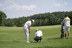 March 22, 2019 - Kuala Lumpur, Malaysia - Nacho Elvira of Spain in action on Day Two of the Maybank Championship at Saujana Golf and Country Club on March 22, 2019 in Kuala Lumpur, Malaysia  (Credit Image: © Chris Jung/NurPhoto via ZUMA Press)