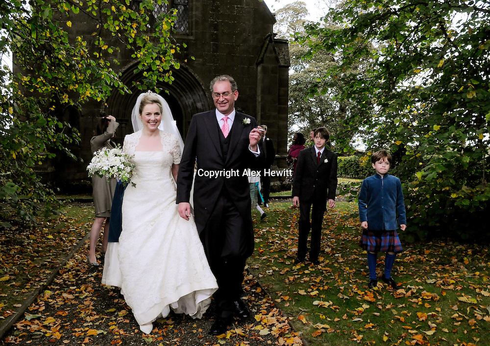The Wedding of Charlotte Eagar and Willie Stirling at Innerleithen Church on Saturday 16th October..Copyright Alex Hewitt.0044 (0)7789 871 540.alex.hewitt@gmail.com
