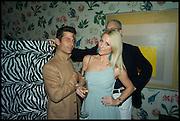 PETRA FAGRELL; ANDRE SARAIVA,  L, Sotheby's Frieze week party. New Bond St. London. 15 October 2014.