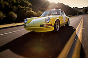 Image of a 1973 Porsche 911S near San Francisco, California, America west coast