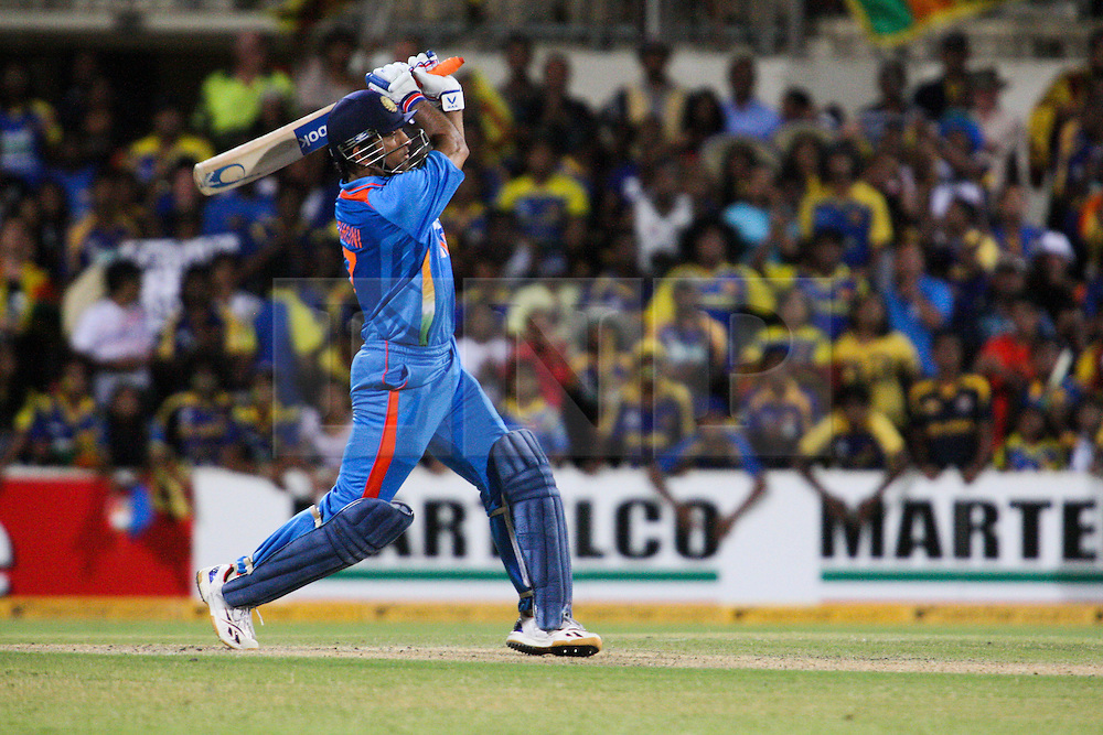 © Licensed to London News Pictures. 14/02/2012. Adelaide Oval, Australia. M.S Dhoni during the One Day International cricket match between India Vs Sri Lanka. Photo credit : Asanka Brendon Ratnayake/LNP