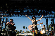 Of Monsters and Men performs during the first day of the 2013 Coachella Valley Music and Arts Festival in Indio, Calif. Friday..