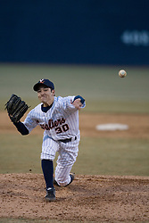 Virginia Cavaliers pitcher Shane Warren (30)pitches against Coppin State.  The Virginia Cavaliers Baseball Team defeated the Coppin State Eagles 12-0 at Davenport Field in Charlottesville, VA on February 21, 2007.