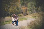 Alexis & Jordan's fall engagement shoot at Sherman Falls, Ancaster
