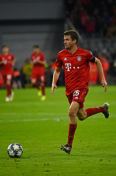 November 6, 2019, Munich, Germany: Thomas Mueller from Bayern seen in action during the UEFA Champions League group B match between Bayern and Olympiacos at Allianz Arena in Munich. (Credit Image: © Bruno De Carvalho/SOPA Images via ZUMA Wire)