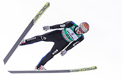 13.01.2019, Stadio del Salto, Predazzo, ITA, FIS Weltcup Nordische Kombination, Skisprung, im Bild Tim Hug (SUI) // Tim Hug of Switzerland during Skijumping Competition of FIS Nordic Combined World Cup at the Stadio del Salto in Predazzo, Italy on 2019/01/13. EXPA Pictures © 2019, PhotoCredit: EXPA/ JFK