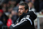 Fulham head coach Slavisa Jokanovic not looking very happy during the Sky Bet Championship match between Fulham and Charlton Athletic at Craven Cottage, London, England on 20 February 2016. Photo by Matthew Redman.