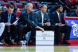 NORMAL, IL - October 23: John Putyrski, Brian Jones, Dan Muller and Marcus Belcher during a college basketball game between the ISU Redbirds and the Truman State Bulldogs on October 23 2019 at Redbird Arena in Normal, IL. (Photo by Alan Look)