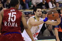 Saso Ozbolt (31) at basketball match of 3rd Round of Euroleague between KK Union Olimpija (SLO) and Lottomatica Roma (ITA), in Arena Tivoli, Ljubljana, Slovenia, on November 6, 2008. Lottomatica  won the match 78:67.