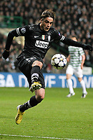 Alessandro Matri Juventus.Glasgow 12/02/2013 Celtic Park Stadium.Football Calcio Champions League Season 2012/13.Celtic Glasgow vs Juventus.Foto Insidefoto Federico Tardito