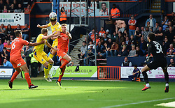Tom Nichols of Bristol Rovers heads the ball over the bar. - Mandatory by-line: Alex James/JMP - 15/09/2018 - FOOTBALL - Kenilworth Road - Luton, England - Luton Town v Bristol Rovers - Sky Bet League One