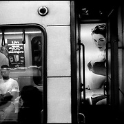Serie: DAILY VENEZUELA / VENEZUELA COTIDIANA<br /> Metro of Caracas, Caracas - Venezuela 1999<br /> (Copyright &copy; Aaron Sosa)