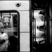 Serie: DAILY VENEZUELA / VENEZUELA COTIDIANA<br /> Metro of Caracas, Caracas - Venezuela 1999<br /> (Copyright © Aaron Sosa)