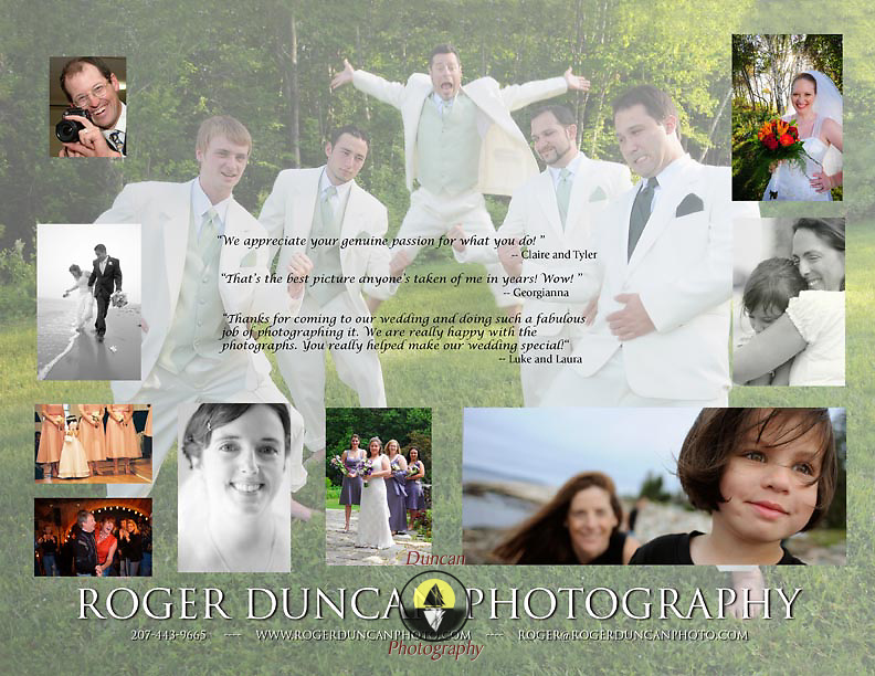 Inside Design of trifold for Roger Duncan Photography