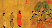 Emperor Taizong of Tang 599 – 649 second emperor of the Tang Dynasty of China from 626 to 649 audience to the ambassador of Tibet