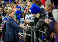Heerenveen, 27-02-2016<br /> <br /> King WIllem-Alexander opens  Thialf Ice Skate Stadium in Heerenveen<br /> <br /> PUBLICATION ONLY IN FRANCE<br /> <br /> COPYRIGHT ROYALPORTRAITS EUROPE/ BERNARD RUEBSAMEN
