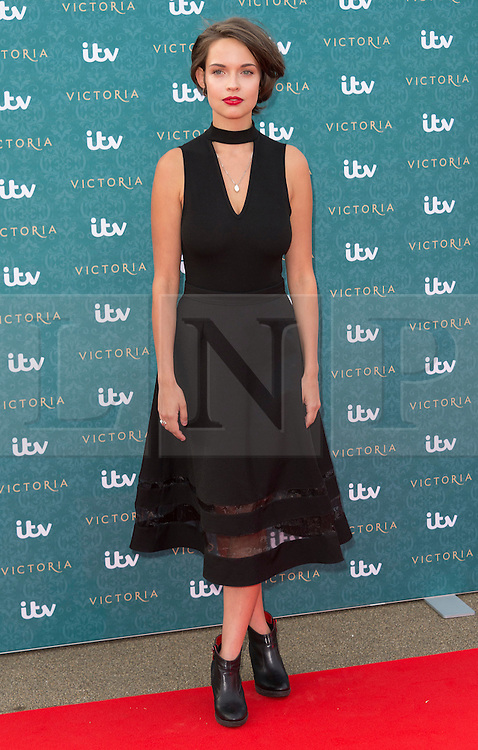 © Licensed to London News Pictures. 11/08/2016. AGGY K. ADAMS attends the VIP press screening of Victoria. The ITV series traces the early life of Queen Victoria, from her accession to the throne at the tender age of 18 through to her courtship and marriage to Prince Albert.  London, UK. Photo credit: Ray Tang/LNP