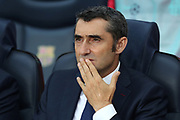 Head coach Ernesto Valverde of FC Barcelona is pictured during the line up ahead of the UEFA Champions League, Group B football match between FC Barcelona and PSV Eindhoven on September 18, 2018 at Camp Nou stadium in Barcelona, Spain - Photo Manuel Blondeau / AOP Press / ProSportsImages / DPPI