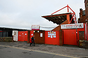 General view outside Exeter City Football Club before the EFL Sky Bet League 2 match between Exeter City and Grimsby Town FC at St James' Park, Exeter, England on 29 December 2018.