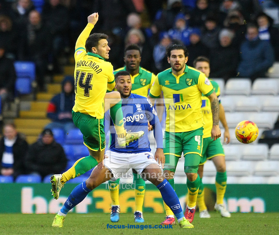 Wes Hoolahan of Norwich in action during the Sky Bet Championship match at St Andrews, Birmingham<br /> Picture by Paul Chesterton/Focus Images Ltd +44 7904 640267<br /> 31/01/2015