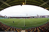 A general view of Rodney Parade, home of Dragons<br /> <br /> Photographer Simon King/Replay Images<br /> <br /> Guinness Pro14 Round 11 - Dragons v Cardiff Blues - Tuesday 26th December 2017 - Rodney Parade - Newport<br /> <br /> World Copyright &copy; 2017 Replay Images. All rights reserved. info@replayimages.co.uk - www.replayimages.co.uk
