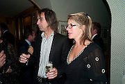 IVOR BRAKA; SARAH BRAKA, BRIONI FRAGRANCE LAUNCH. Annabels. Berkeley Sq. London. 14 October 2009.