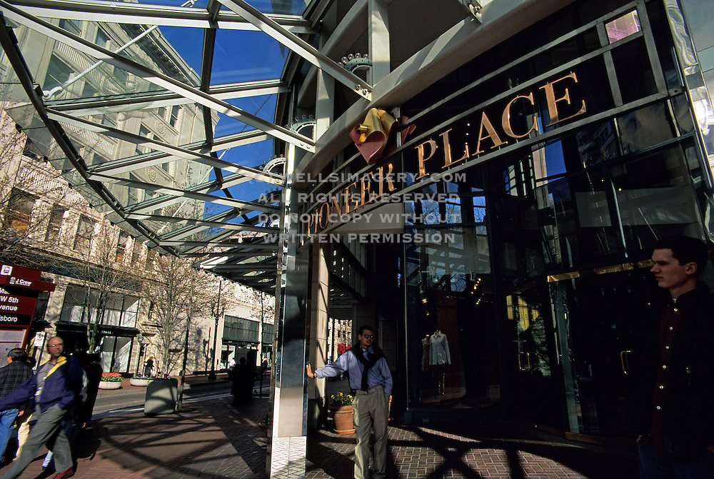 Image of Pioneer Place in downtown Portland, Oregon, Pacific Northwest