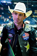 Cody Teel after winning the 25th Professional Bull Riders  Unleash the Beast Music City Knockout in Nashville, Tenn., Friday, Aug 17, 2018. (Michelle Donovan/Image of Sport)