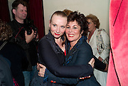 JUDITH OWEN; RUBY WAX, Press night for Ruby Wax- Losing it. Duchess theatre. London. 1 September 2011. <br /> <br />  , -DO NOT ARCHIVE-© Copyright Photograph by Dafydd Jones. 248 Clapham Rd. London SW9 0PZ. Tel 0207 820 0771. www.dafjones.com.