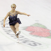 Courtney Hicks competes during the championship ladies free skate at the 2014 US Figure Skating Championships at the TD Garden on January 11, 2014 in Boston, Massachusetts.