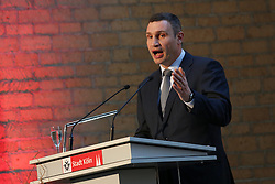 23.04.2015, Historisches Rathaus, Koeln, GER, Verleihung des Konrad-Adenauer-Preises der Stadt Koeln, im Bild Dr. Vitali Klitschko (Oberbuergermeister der Stadt Kiew) waehrend seiner Dankesrede // during Awarding of the Konrad Adenauer Prize of the City Cologne at Historisches Rathaus in Koeln, Germany on 2015/04/23. EXPA Pictures © 2015, PhotoCredit: EXPA/ Eibner-Pressefoto/ Schueler<br /> <br /> *****ATTENTION - OUT of GER*****