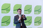 Justin Adams, Global Managing Director for Lands at The Nature Conservancy, makes closing remarks at the General Assembly of the Tropical Forest Alliance 2020 in Jakarta, Indonesia, on March 11, 2016. <br /> (Photo: Rodrigo Ordonez)