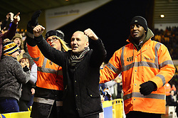 A Wolverhampton Wanderers fan is escorted out of the stadium by stewards  - Mandatory by-line: Dougie Allward/JMP - 14/01/2017 - FOOTBALL - Molineux - Wolverhampton, England - Wolverhampton Wanderers v Aston Villa - Sky Bet Championship