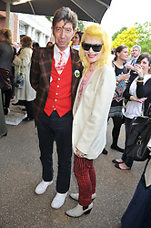 PAM HOGG and DUGGIE FIELDS at a private view of Yoko Ono's work - To The Light held at The Serpentine Gallery, Kensington Gardens, London on 19th June 2012.