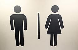 General view of toilet signage at Stadium MK