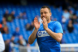 John Terry of Chelsea applauds the fans as he comes out to warm up - Mandatory by-line: Jason Brown/JMP - 01/04/2017 - FOOTBALL - Stamford Bridge - London, England - Chelsea v Crystal Palace - Premier League