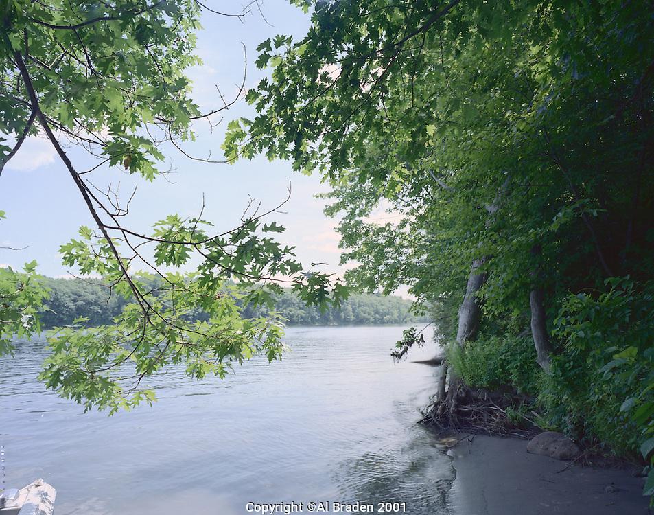 Connecticut River bank near Springfield, VT